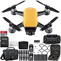 DJI Spark Portable Mini Drone Quadcopter Fly More Combo Travel Bundle (Sunrise Yellow)