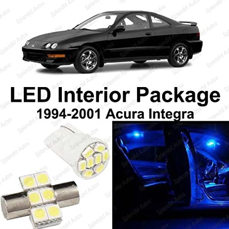 Splendid Autos Ultra Blue LED Acura Integra Interior Package Deal 1994    2001 (6 Pieces