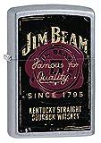 Zippo Jim Beam Whiskey Label Pocket Lighter, Street Chrome