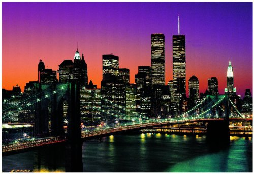 Komar DM265 Ideal Decor Manhattan 8-Panel Wall (8 Panel Mural)