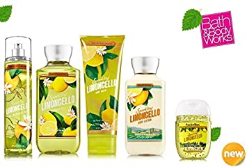 Bath Body Works SPARKLING LIMONCELLO Deluxe Gift Set Lotion Cream Fragrance Mist Shower Gel Small Sanitizing Hand Gel Lot of 5