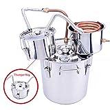 USA Premium Store Alcohol Moonshine Copper Still Water Distiller Stainless Boiler+Thumper Keg (3 Gallon)