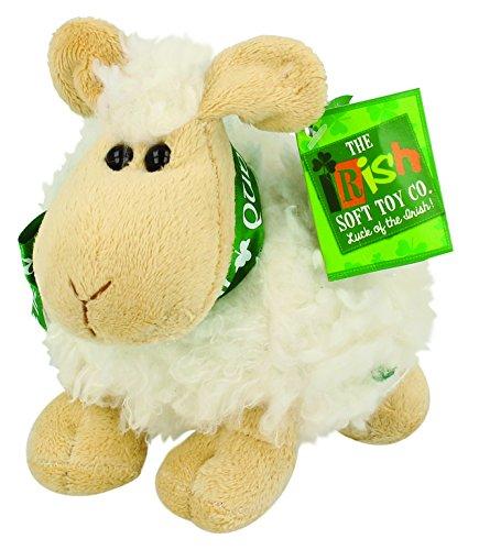 (Shamrock Gift Co. Small Irish Sheep Plush Toy - Cream Color)