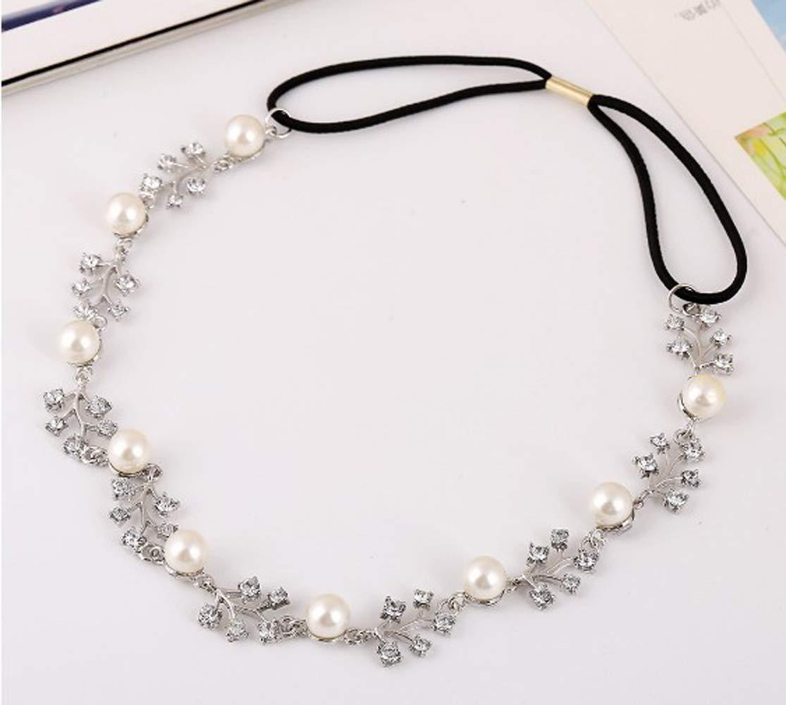 Deniferymakeup mari/ée cristal et perles Bandeau