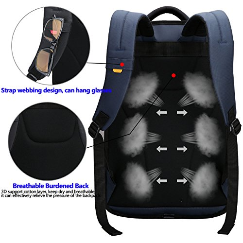 Anti Laptop Blue Under OIWAS School Inch Resistant 14 Computer Backpack Backpack Water Fits Travel Bags Blue theft Business Rqqw6BxX