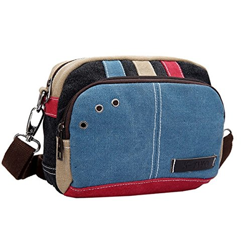 Bag Casual Bag Bag Shoulder OULII Small Pack Waist body Messenger Fashion Cross Travel Blue Canvas Bag TgUWH6