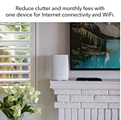 Orbi Whole Home WiFi System with Built-in Cable Modem is the industry's first Cable Modem Router WiFi System with app setup and super-fast Tri-band WiFi. DOCSIS 3.0 and FastLane3 Technology delivers maximum performance and smooth, uninterrupt...