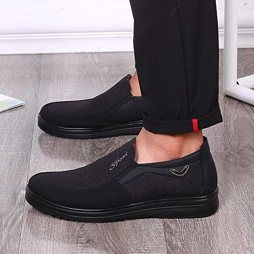 e5e043a92ffe7 Corriee Work Shoes for Men Leisure Slip On Loafers Men's Comfortable Soft  Bottom Shoes Mens Classic Oxford Shoes Black