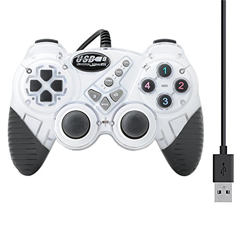 QUMOX USB 2.0 Wired Gamepad Double Shock Joystick Joypad Game Controller for PC Laptop