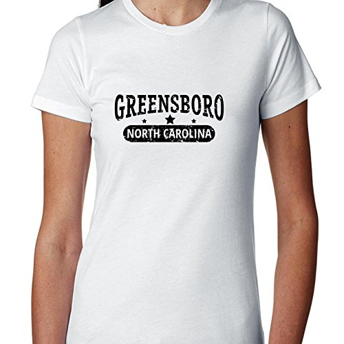 Hollywood Thread Trendy Greensboro, North Carolina With Stars Women's Cotton -