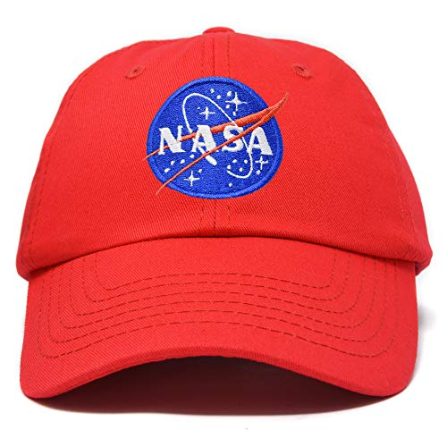 - DALIX NASA Hat Soft Baseball Cap Embroidered Space Meatball Logo in Red