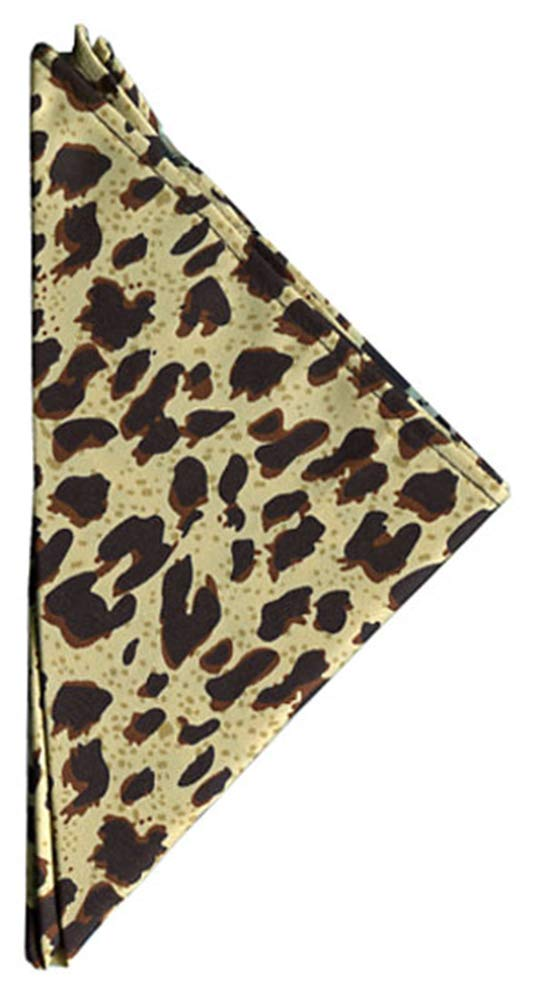 Jacob Alexander Mens Boys Leopard Animal Print Pocket Square Handkerchief Hanky