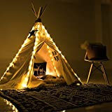 little dove Fairy Lights for Teepee Tents - Battery Operated 4 LED Strings for Wedding Party Centerpieces, Waterproof Decorative Lights for Bedroom, Kids Teepee Decoration TENT NOT INCLUDED