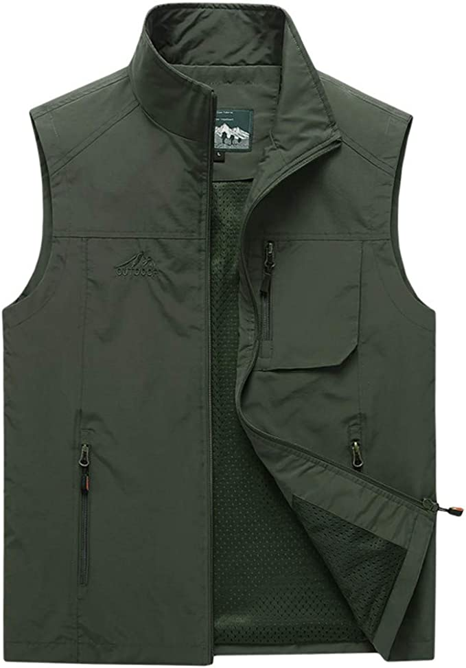 Gihuo Womens Utility Sherpa Lined Anorak Vest Sleeveless Hooded Military Jacket