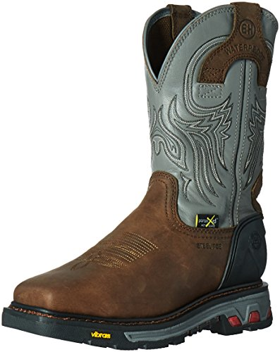 Justin Original Work Boots Men's Commander X-5 WK2102, Tan Waxy Milled Buffalo/Gunmetal, 7.5 D -