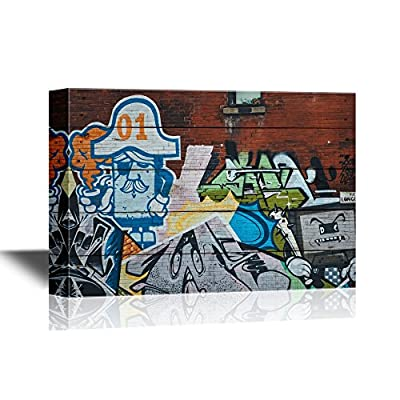 Canvas Wall Art - Modern Graffiti - Gallery Wrap Modern Home Art | Ready to Hang - 12x18 inches