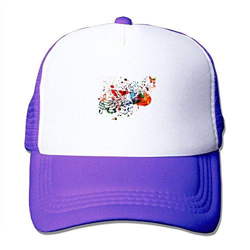Womens Cotton Cap Adjustable Hat Guitar Butterfly
