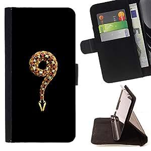 """Bright-Giant (Minimalista Serpiente Rey Negro Naturaleza"""") Modelo Colorido Cuero Carpeta Tirón Caso Cubierta Piel Holster Funda Protección Para Apple (5.5 inches!!!) iPhone 6+ Plus / 6S+ Plus"""