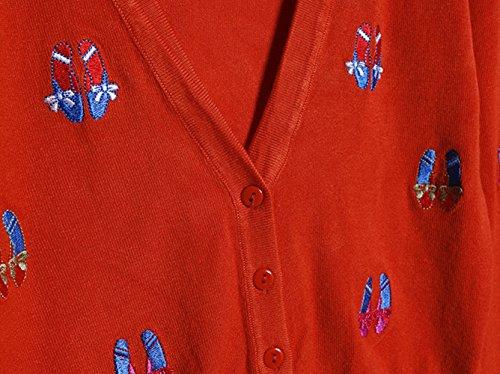 刺繍ニットレディースシューズパターンVネックロングスリーブジョーカーカーディガン刺繍