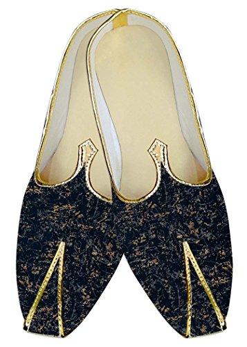 INMONARCH Hombres Boda Zapatos Marina Marrón Oscuro Imprimir MJ017035