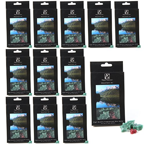 Mountain Berry Tart - Aromatherapy Elegant Expressions 12 boxes of Mountain Air Décorative SHAPED Wax Melts, 1oz Each, Infused with Essential Oils. Party favor, Weddings, Spa, Reiki, Meditation, Bathroom setting. P9