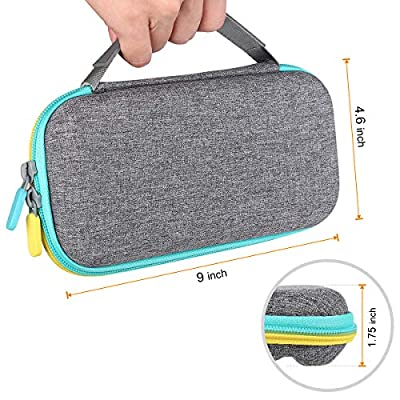 Kootek Travel Carry Case for Nintendo Switch Lite (2020 Version), 14 Game Card Holders 2 Micro SD Cards Slot Protective Hard Shell Portable Carrying Cases Accessories Storage: GPS & Navigation