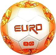 STRIKER SOCCER V1054P Euro Soccer Ball, Orange, Size 4