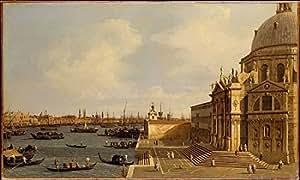 Canaletto – Venice: Santa Maria della Salute Artistica di Stampa (45,72 x 60,96 cm)