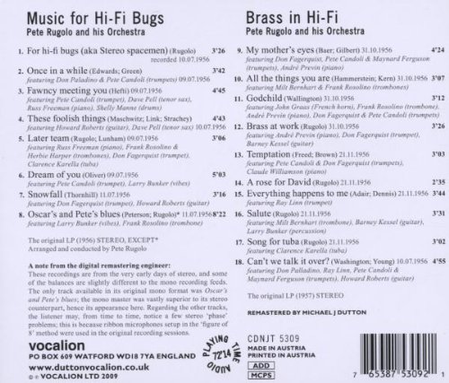 Music for Hi-Fi Bugs/Brass in Hi-Fi by Rugolo, Pete