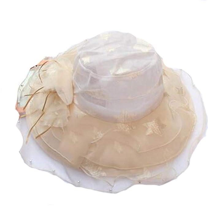 Sombrero Para El Sol Damas De Recreación Playa Vacaciones Ocio Sombrero  Para Añ  Amazon.es  Ropa y accesorios 17502ed176c1