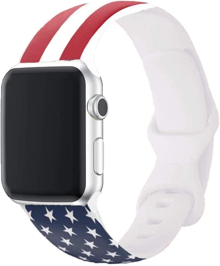 Generic United States Flag Watch Band for Watch Compatible with Series 1 2 3 4 5 6 American Flag (us-flag, 42/44)