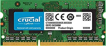 Crucial CT8G3S160BMCEU 8GB 1600MHz DDR3L 204-Pin Mac Memory Memory at amazon