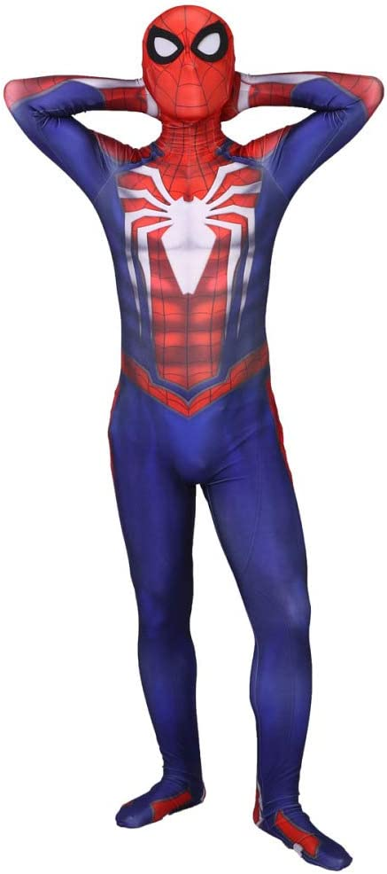 XINFUKL PS4 Disfraz De Spiderman Adulto del Halloween Vestido ...