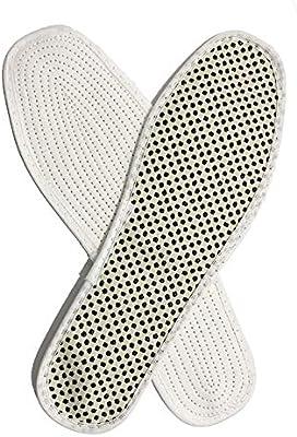 Harddo - Plantillas autocalentadoras por infrarrojos, 1 par, plantilla magnética, de algodón con nanotecnología, antifatiga, para hombres y mujeres beige beige 45: Amazon.es: Salud y cuidado personal