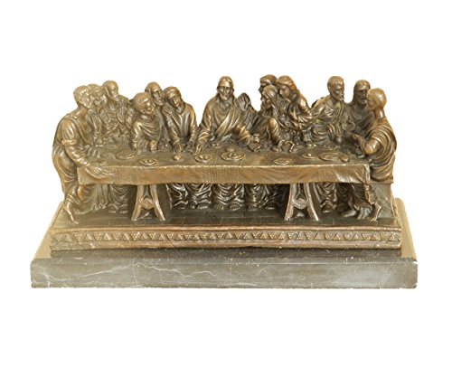 Toperkin Hot Cast Original Extra Large Christian Faith Last Supper Jesus Religious Bronze TPY-930 by Toperkin