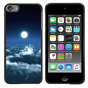 """Planetar® ( Brillante Nubes Luna Cielo Azul Cielo Espacio de Arte"""" ) iPod Touch 6 Fundas Cover Cubre Hard Case Cover"""