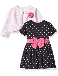Baby Girls' Hearts 2 Piece Dress and Cardigan Set