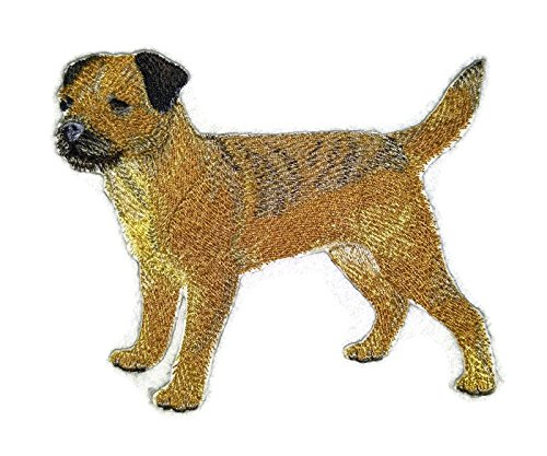 Amazing Custom Dog Portraits [Border Terrier] Embroidery Iron On/Sew patch [5