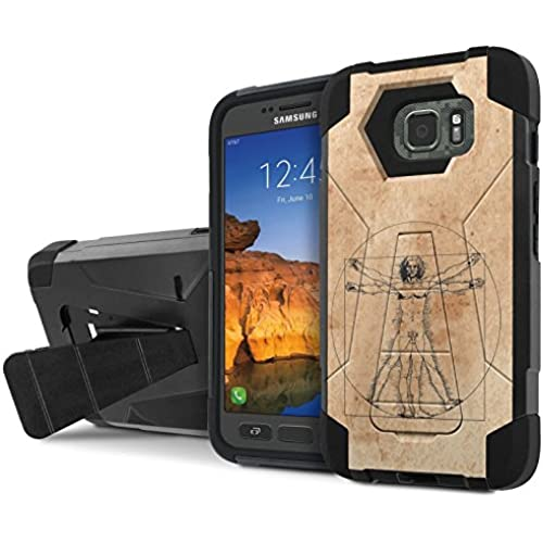 AT&T [Galaxy S7 Active] Armor Case [NakedShield] [Black/Black] Tough ShockProof [Kickstand] Phone Case - [Virtruvian Sales