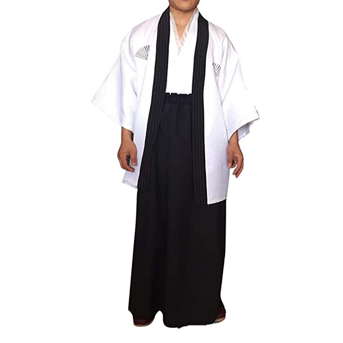 88e8e2cd5 Uokoki Hombres Tradicionales Raya Samurai Ropa japonés Kimono del ...