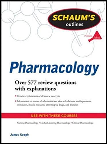schaum s outline of pharmacology schaum s outlines 9780071623629