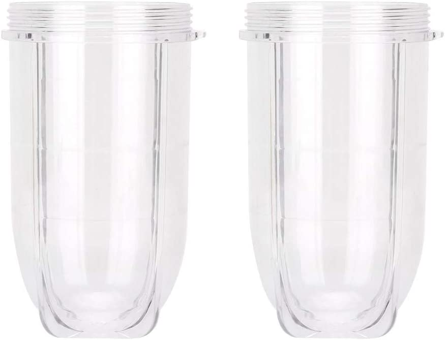 2 Pack Replacement 16 Ounce Tall Jar Cups For Magic Bullet Blender Juicer Mixer 250W ANS_Light