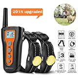 MEKUULA Dog Training Shock Collar for 2 Dogs - Rechargeable & Waterproof - 1000ft Pet Trainer Collars with Beep Vibration Shock for Puppy Small Medium Large Dogs