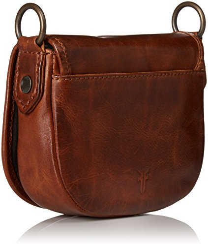 Saddle Bag Cognac Whipstitch Melissa Crossbody Mini FRYE tXa4zqX
