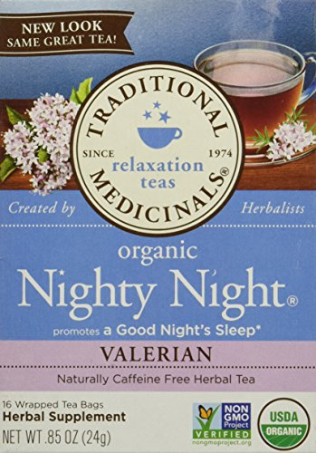 Traditional Medicinals Nighty Night Valerian, 16 Count (Pack of 6) (Best Tea For Sleep And Relaxation)