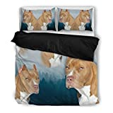 Pit Bull Terrier Bedding Set - Dog Lovers Gifts - Custom Cover Print Design Pillow Cases & Duvet Blanket Cover - Pet Gift Ideas
