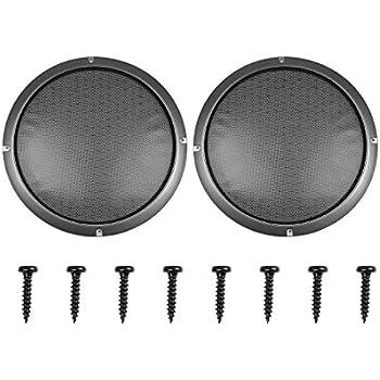 X AUTOHAUX 12 Inch Black Car Audio Speaker Cover Metal Mesh Subwoofer Grill Horn Guard