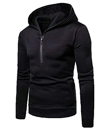 a5b39ae9f WSPLYSPJY Men Fashion Lightweight Pullover Half Zip Hoodies Sweatshirts Tops  at Amazon Men's Clothing store: