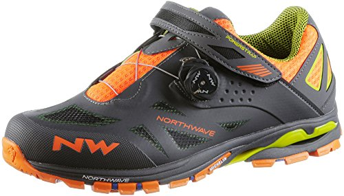 Northwave Spider Plus 2 Mtb Trekking Bike Shoes Grigio / Nero / Arancio 2018 Anthra / Nero / Arancio