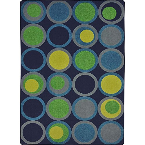 - Joy Carpets Kid Essentials Circle Back Teen Area Rugs, 129-Inch by 158-Inch by 0.36-Inch, Navy